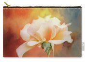 Delicate Rose On Color Splash Carry-all Pouch
