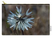Delicate Silver Wildflower Carry-all Pouch