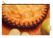 Delicious Apple Pie With Fresh Apples On Table Carry-all Pouch