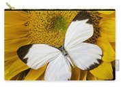 Delightful White Butterfly Carry-all Pouch