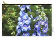 Delphinium Painterly Carry-all Pouch
