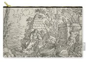 Democritus Mediterend, Jonas Umbach, 1634 - 1693 Carry-all Pouch