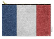 Denim France Flag Illustration Carry-all Pouch