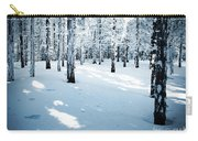 Dense Spruce Snowy Forest Carry-all Pouch
