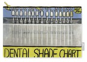 Dental Shade Chart Carry-all Pouch by Anthony Falbo