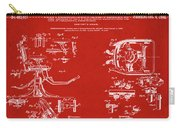 Dentists Chair Patent 1892 In Red Carry-all Pouch