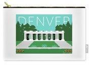 Denver Cheesman Park/lt Blue Carry-all Pouch by Sam Brennan