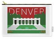 Denver Cheesman Park/maroon Carry-all Pouch by Sam Brennan