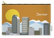 Denver Colorado Horizontal Skyline Print Carry-all Pouch