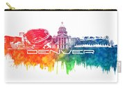 Denver Skyline City Color Carry-all Pouch