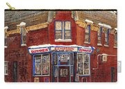 Depanneur De Montreal Pointe St Charles Best Original Montreal Paintings On Sale Peintures A Vendre  Carry-all Pouch