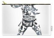 Derek Carr Oakland Raiders Pixel Art 11 Carry-all Pouch