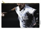 Derek Jeter Carry-all Pouch by Paul Ward