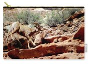 Desert Bighorn Ram Walking The Ledge Carry-all Pouch