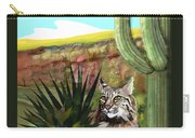 Desert Bobcat Carry-all Pouch