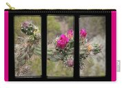 Desert Cactus Triptych Carry-all Pouch