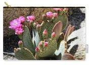 Desert Plants - Fuchsia Cactus Flowers Carry-all Pouch