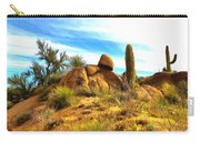 Desert Scene Near Sedona Arizona Painting Carry-all Pouch