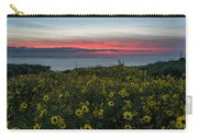 Desert Sunflowers Coastal Sunset Carry-all Pouch
