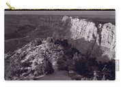 Desert View At Grand Canyon Arizona Bw Carry-all Pouch