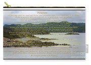 Desiderata Rugged Coastline Carry-all Pouch
