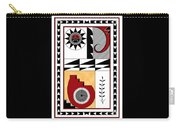 Southwest Collection - Design Five In Red Carry-all Pouch