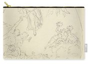 Design For A Ceiling Painting With A Triumph Of Minerva, In Oval, Dionys Van Nijmegen Possibly, 17 Carry-all Pouch