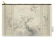 Design For A Ceiling Painting With Allegory Of Peace, Dionys Van Nijmegen, 1715 - 1798 Carry-all Pouch