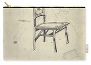Design For A Chair, Carel Adolph Lion Cachet, 1874 - 1945 Carry-all Pouch