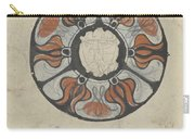 Design For A Memorial Plaque With W And A Coat Of Arms, Carel Adolph Lion Cachet, 1874 - 1945 Carry-all Pouch