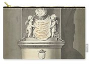 Design For A Monument To C. Brunings A Bust In A Niche, Bartholomeus Ziesenis, 1806 Carry-all Pouch