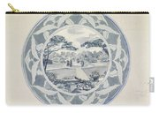 Design For A Plate With A Garden View, Carel Adolph Lion Cachet, 1874 - 1945 Carry-all Pouch
