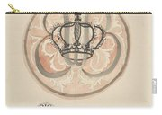 Design For A Plate With Crown And Monogram, Carel Adolph Lion Cachet, 1874 - 1945 Carry-all Pouch