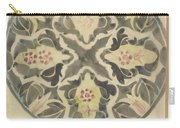Design For A Plate With Floral Decoration, Carel Adolph Lion Cachet, 1874 - 1945 Carry-all Pouch