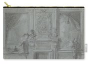 Design For A Room Wall With A Chimney Piece And Paintings, Cornelis Troost, 1720 - 1750 Carry-all Pouch