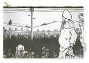 Design For End Paper Of Pierrot Carry-all Pouch