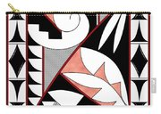 Southwest Collection - Design Four In Red Carry-all Pouch