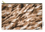 Designer Camo In Beige Carry-all Pouch