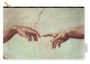 Detail From The Creation Of Adam Carry-all Pouch by Michelangelo