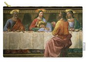 Detail From The Last Supper Carry-all Pouch by Domenico Ghirlandaio
