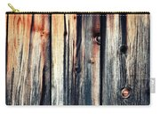 Detail Of An Old Wooden Door Carry-all Pouch