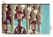 Detail Of Lamp And Columns In Venice. Vertically.  Carry-all Pouch
