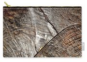 Detail Of Old Wood Sawn Carry-all Pouch