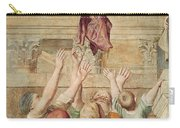 Detail Of Saint Cecilia Distributing Alms Carry-all Pouch