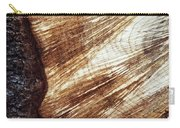 Detail Of Sawing Wood With Bark Carry-all Pouch
