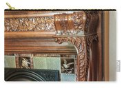 Detail Of Wood Carving And Tiles - Historic Fireplace Carry-all Pouch
