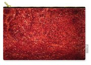 Detail Polished Red Coral Carry-all Pouch