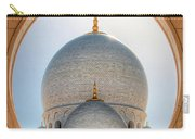 Detail View At Dome Of Sheikh Zayed Grand Mosque, Abu Dhabi, United Arab Emirates Carry-all Pouch
