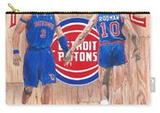 Detroit Hustle - Ben Wallace And Dennis Rodman Carry-all Pouch