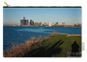 Detroit Skyline And Shadow Carry-all Pouch